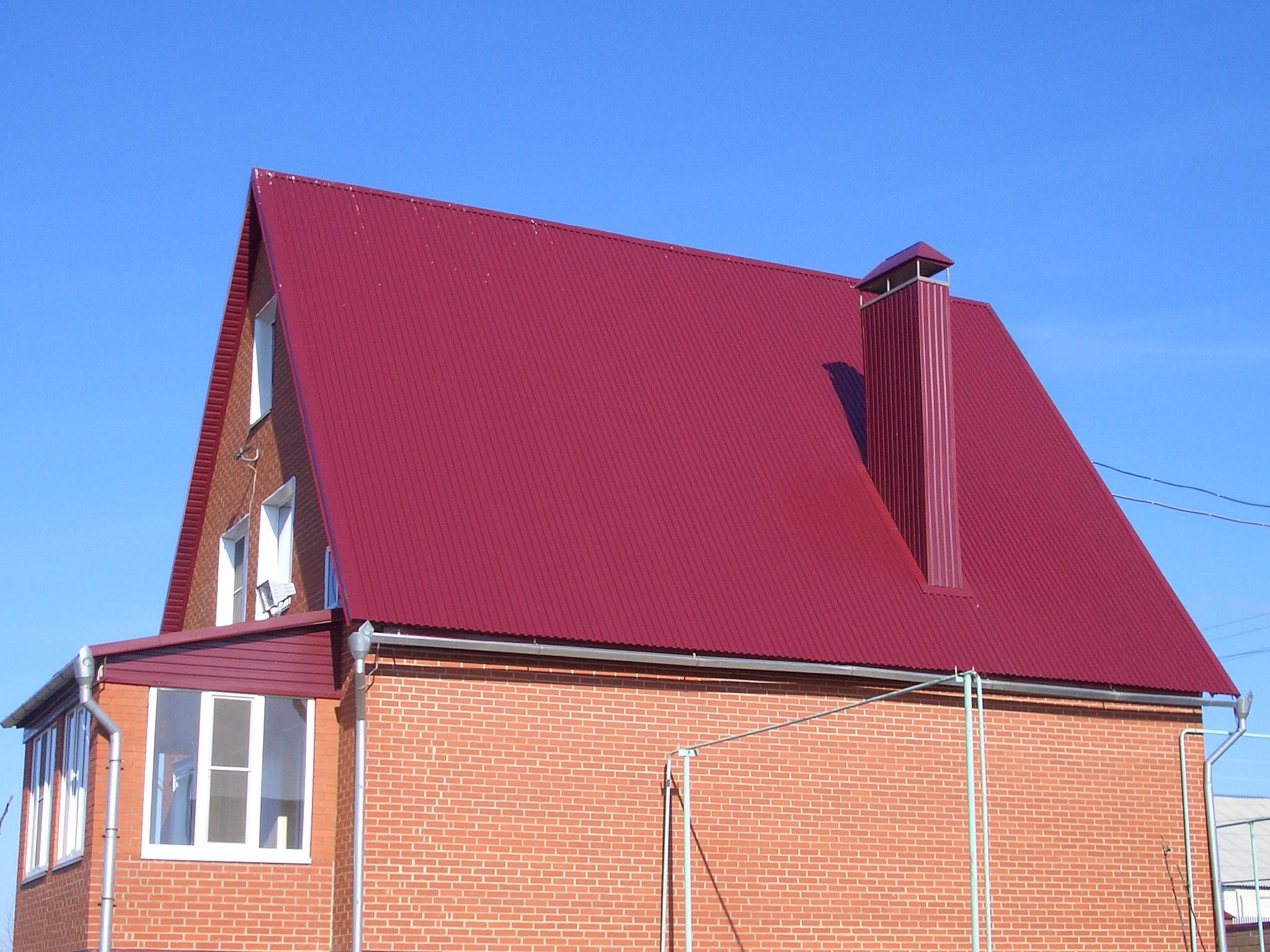 крыша цвет красное вино фото рабочие